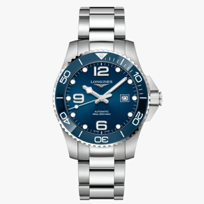 LONGINES 浪琴 L37824966 康卡斯潛水系列陶瓷框機械腕錶 43mm【8/15前↘領券再9折,優惠券碼: 2008CP2000B 】