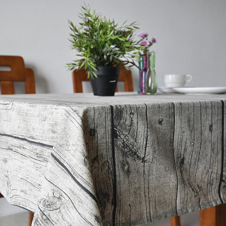 桌巾 - 140*140cm 直木紋棉麻桌布/檯布 樹皮紋【Casa Mia】