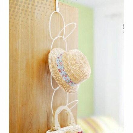 家居收納 - 門背掛式連環衣帽架/收納掛架【Casa Mia】