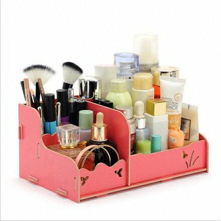 化妝盒 - 韓版木質化妝品收納盒/收納箱 - 經濟型【Casa Mia】