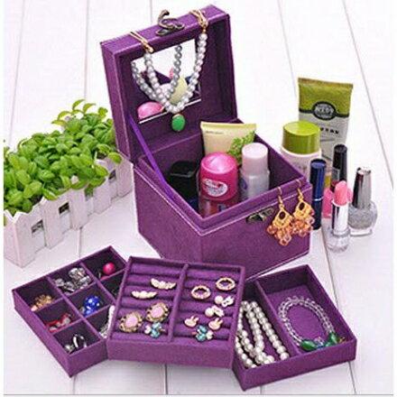 飾品收納 - 三層復古歐式珠寶盒/小物收納盒,12*12*12cm【Casa Mia】