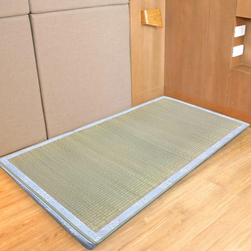床墊 / 單人 / 草蓆【藺草透氣兩用床墊】3x6尺 - 雙面設計 天然藺草 3M吸濕排汗表布 MIT台灣製  Rohouse 樂活居 0