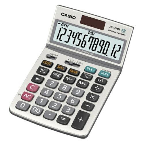 【史代新文具】卡西歐CASIO JW-120MS桌上型計算機太陽能稅率12位