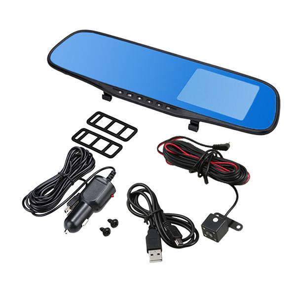 HD 1080 P 4.3\'\' Car Rearview Mirror Vehicle DVR Video Night Vision Car Dual Lens Camera Dash Cam Recorder 5