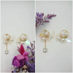 韓系馬卡龍亮片珍珠耳環 情侶送禮  材質:純銀925