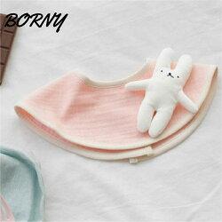 韓國【Borny】360度披肩造型旋轉圍兜 / 口水巾- 療癒兔