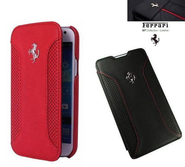 葳爾洋行 Wear【Ferrari 法拉利】原廠真皮皮套 SAMSUNG【Galaxy S5 I9600 G900i】側翻式、翻書式皮套【先創國際公司貨】