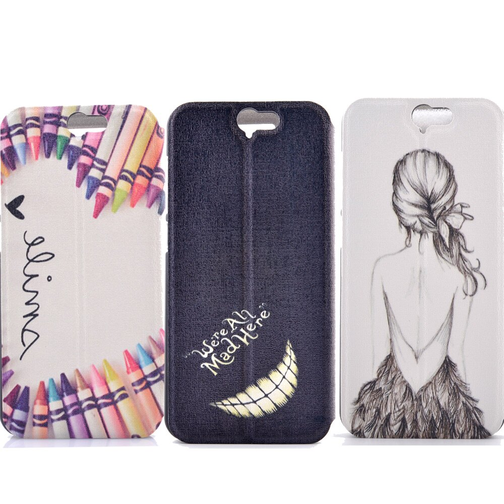 Samsung S7 時尚彩繪手機皮套 側掀支架式皮套 仙境遊蹤/少女背影/蠟筆拼盤 1