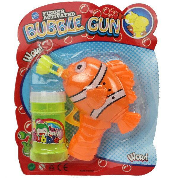 小丑魚環保泡泡槍 慣性泡泡槍(不用裝電池)/一袋5支入{促49}~手動泡泡槍 奇