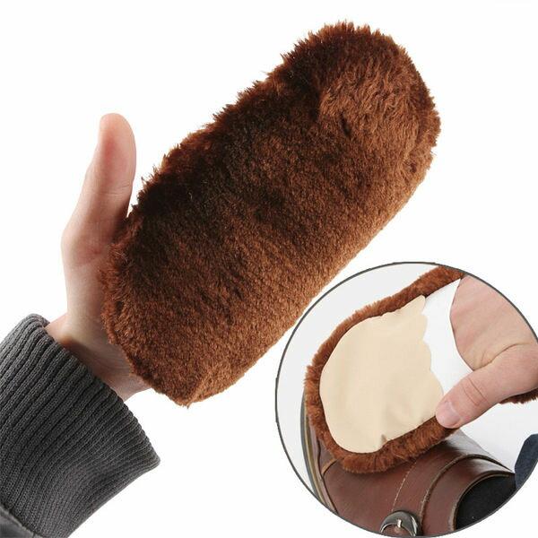 PS Mall 軟毛鞋刷擦鞋布手套鞋刷子 皮鞋鞋子清潔神器 毛絨刷鞋工具 擦鞋【J273】