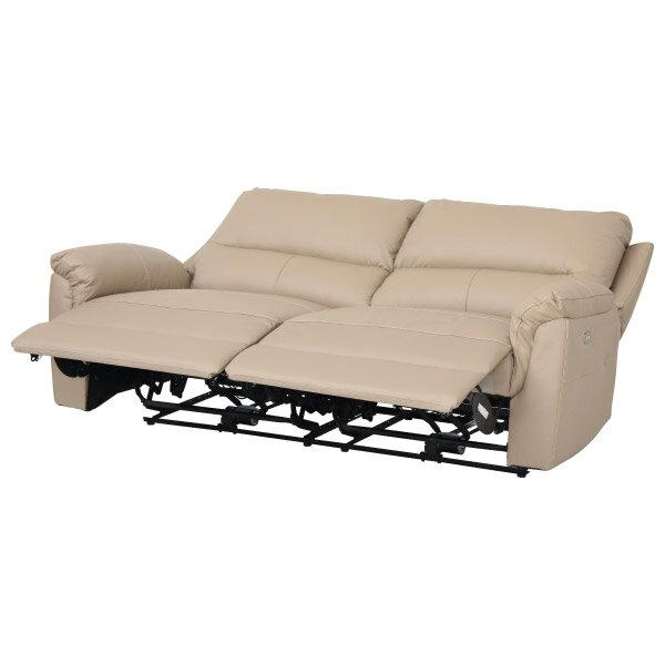 ◎半皮3人用電動可躺式沙發 BEAZEL MO NITORI宜得利家居 2