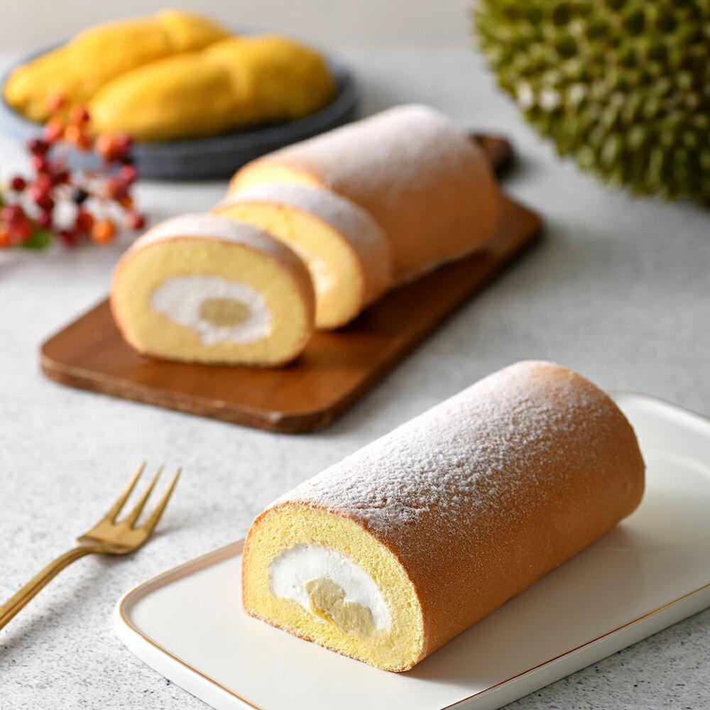 Gold Thon 極致貓山王生乳捲 長度約18CM  使用日本麵粉和紐澳鮮奶油  榴槤瑞士捲