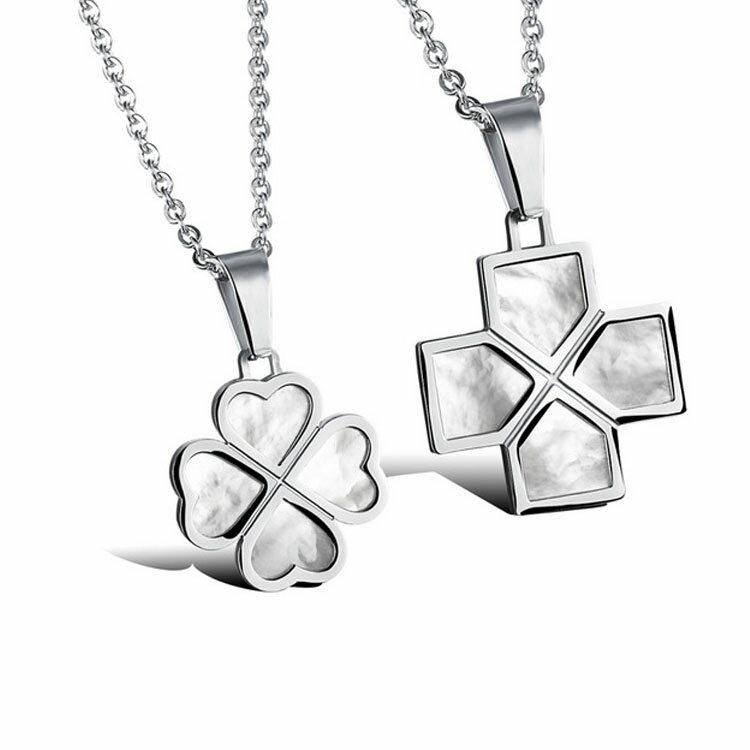 款日韓新品唯美特色圖案 太情侶款鈦鋼項鍊