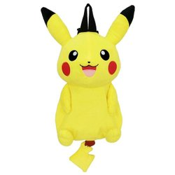 尼德斯Nydus~*  日本正版 精靈寶可夢 神奇寶貝 Pokemon 皮卡丘 Pikachu 可愛造型後背包 玩偶 娃娃