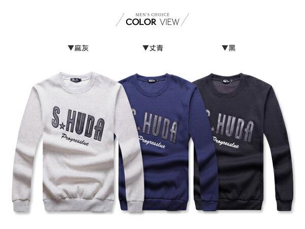☆BOY-2☆ 【NR95073】潮流SHUDA刷毛長T恤 1