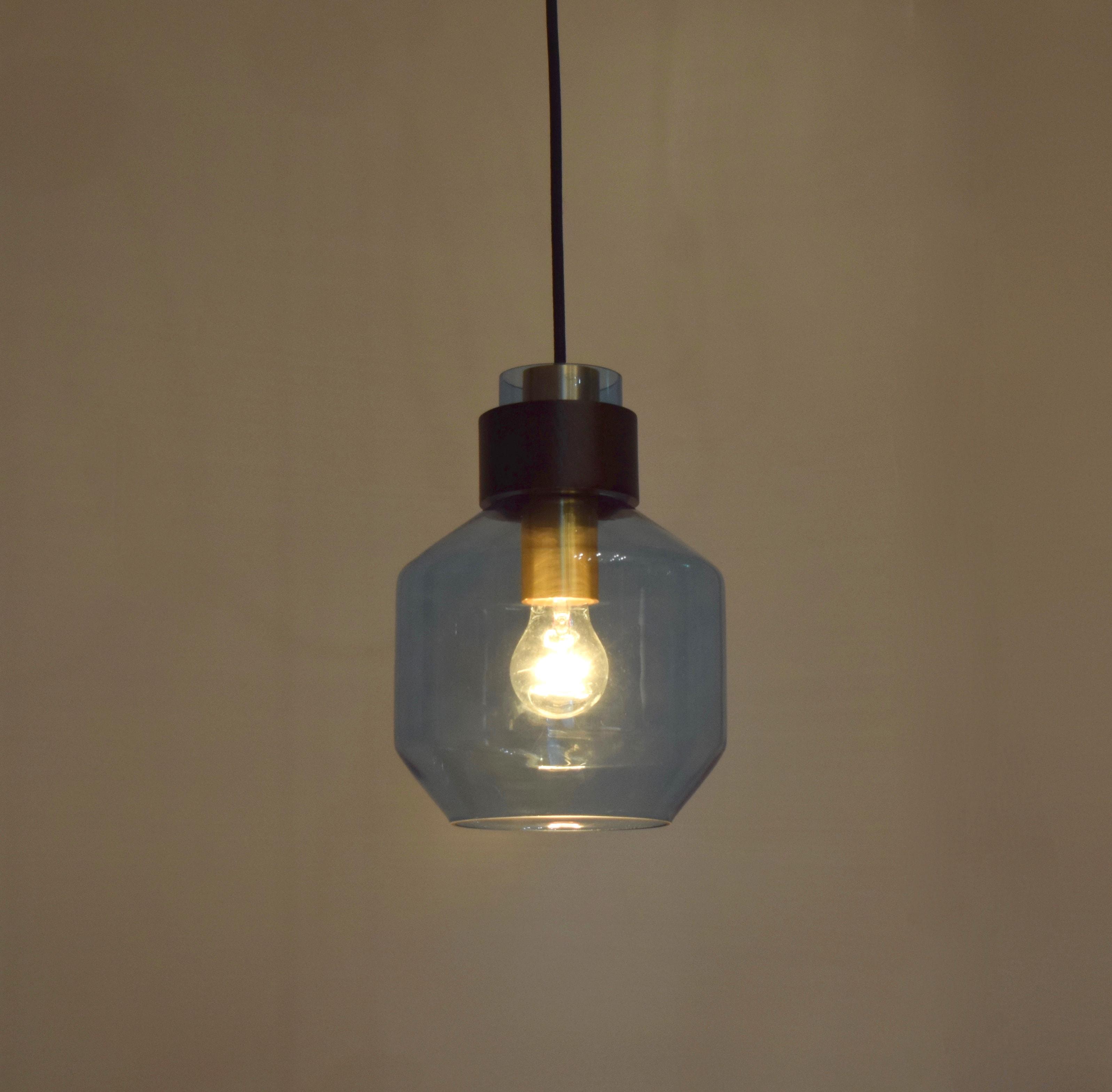 水藍色寬酒瓶造型吊燈-BNL00122 5
