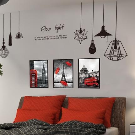 自粘創意個性墻貼紙男生宿舍臥室床頭貼畫房間海報墻壁墻面裝飾品1入