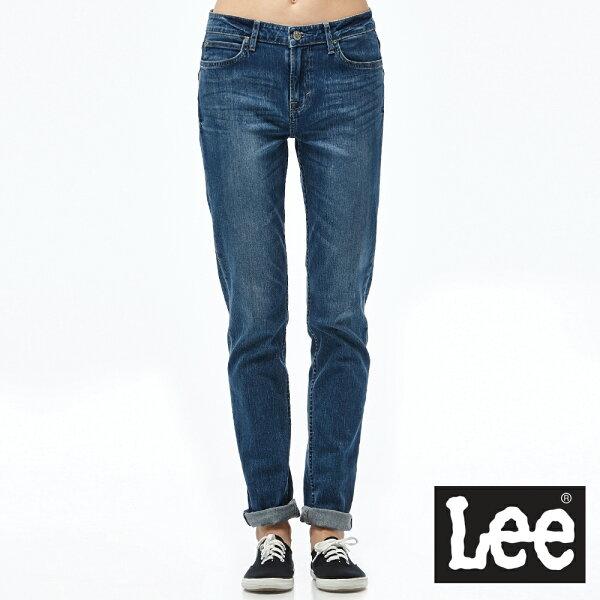 Lee409中腰合身窄管牛仔褲S-女款