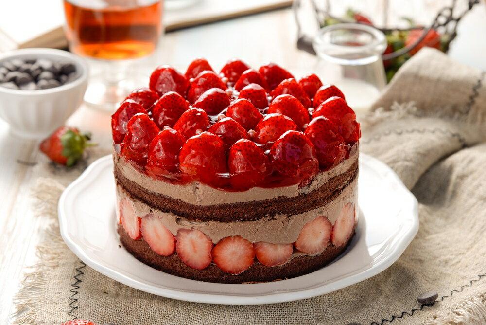 【詹姆士直播年菜】 6吋草莓修格拉~重達1100公克(內含50顆大湖草莓)滿滿維他命C★嚴選比利時65%巧克力★幸福的滋味【上發條直播推薦】 4