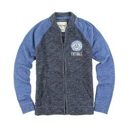 美國百分百【Abercrombie & Fitch】棒球 外套 AF 立領 長袖 夾克 麋鹿 深藍/寶藍 S號青年版  I552