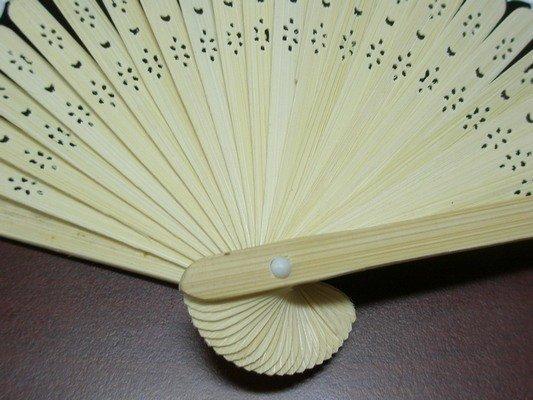 8英吋空白扇子 彩繪扇子 21cm 單面紙手繪扇 / 一支入 { 定30 }  日本扇子 小紙摺竹片~5153 3