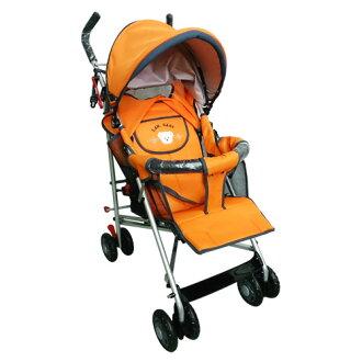 【奇買親子購物網】IAN BABY 823-F1全罩背帶六段平躺推車(綠/橘)/台灣製