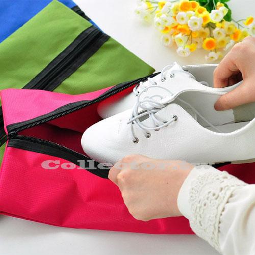 【G14081501】極簡風戶外折疊收納袋 旅行簡約尼龍防水鞋袋 出差必備