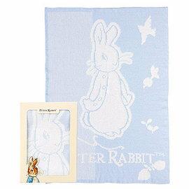 【淘氣寶寶】奇哥PeterRabbit比得兔雙層柔舒毯禮盒(藍色)PLB49200B【精選彌月禮盒組】