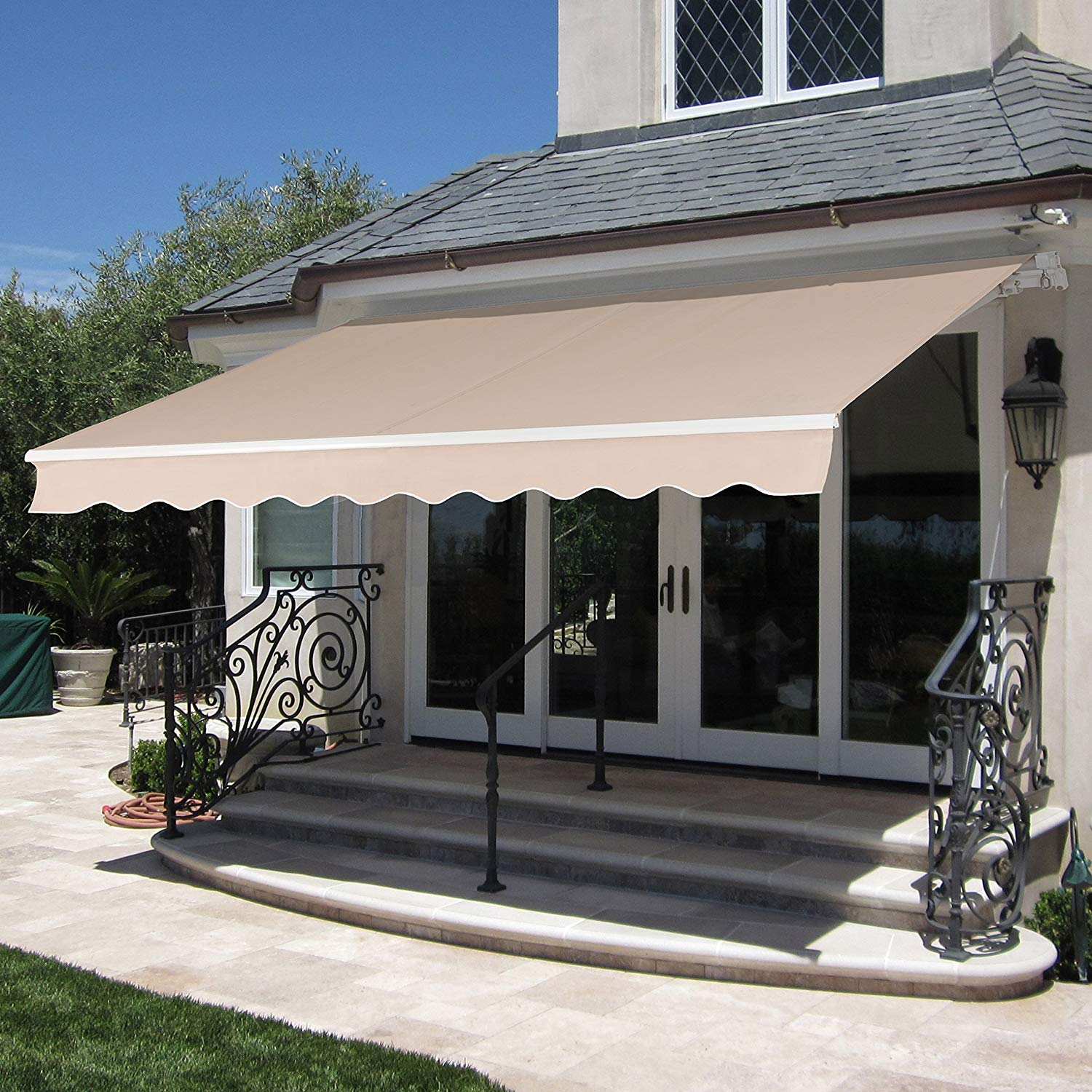 Mcombo 10 X 8 Ft Patio Awning Retractable Manual Commercial Grade Quality 100 280g