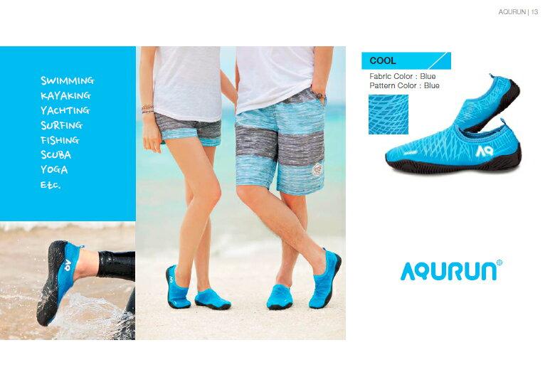 Aqurun(有現貨) Edge Blue藍藍色 – 水陸防滑膠鞋 海灘鞋 水上活動/ 浮潛/ 涉水鞋/ 游泳/ 潛水/ 衝浪/ 瑜珈 /健身房 /露營, 舒服 輕薄 防滑 快乾 服貼