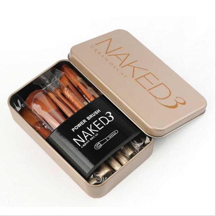 NK3鐵盒12支化妝刷套裝便攜化妝刷 眼影刷散粉刷美妝工具