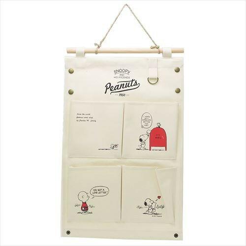 X射線【C064007】史努比Snoopy收納掛袋-白,收納箱掛袋置物袋雜物收納收納袋