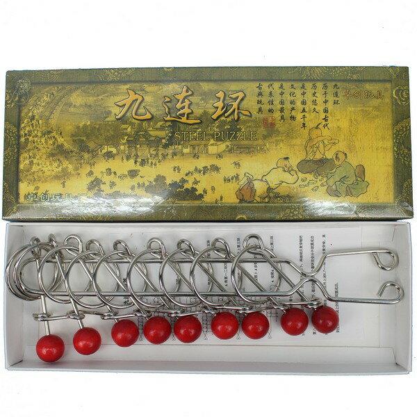 中國九連環 ZY1188 (大)智力九連環/一個入{促120} 留客珠 留客環~5901