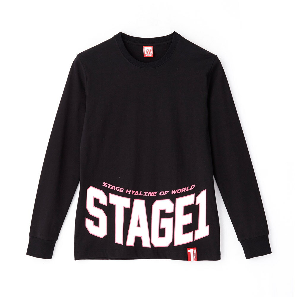 STAGEONE COLLEGE LS TEE 黑色 白色 兩色 2
