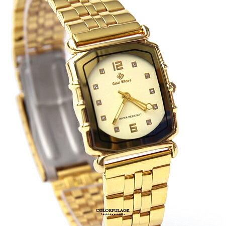 手錶 日本機芯方形金色腕錶 柒彩年代【NE1923】單支 - 限時優惠好康折扣