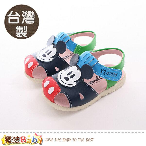 男童鞋台灣製迪士尼米奇正版兒童涼鞋鞋魔法Baby~sk0390