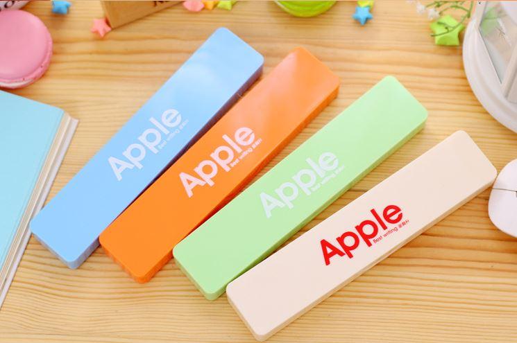 【省錢博士】韓版文具Apple糖果色文具盒 / 筆盒 / 多功能迷你文具盒 - 限時優惠好康折扣