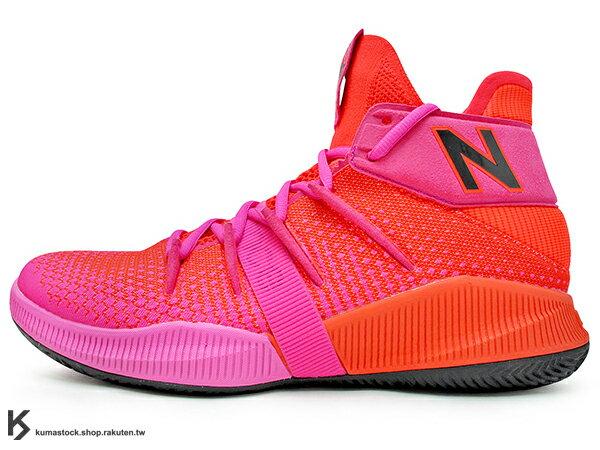2019 最新 NBA 總冠軍 Kawhi Leonard 強力代言 NEW BALANCE OMN1S 紅 桃紅 全腳掌的 FUELCELL 緩震科技 MVP 籃球鞋 紐巴倫 小可愛 (BBOMNXEP) 1219NBA 0
