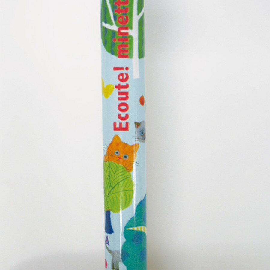 【日本製】【ECOUTE!】貓咪系列 自動鉛筆 森林貓咪圖案(一組:5個) - ecoute!