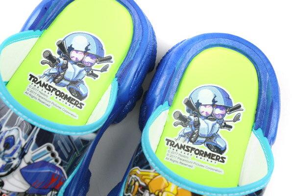 變形金鋼 TRANSFORMERS 大黃蜂 柯博文 拖鞋 好穿 防水 雨天 舒適 藍色 中童 TF10091 no706 4