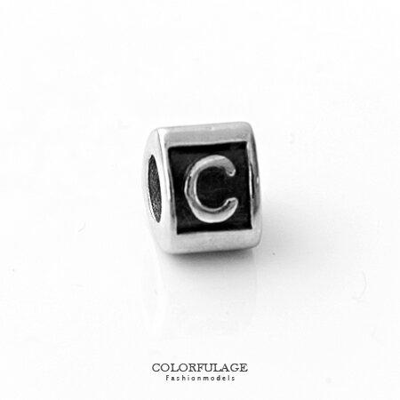組合字母串珠手鍊 自由搭配鋼墜手環 C字母 柒彩年代【NT4】CHARMS - 限時優惠好康折扣