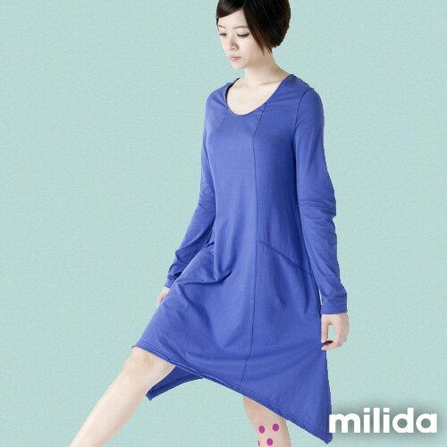 【Milida,全店七折免運】-秋冬單品-洋裝款-長版休閒風 9