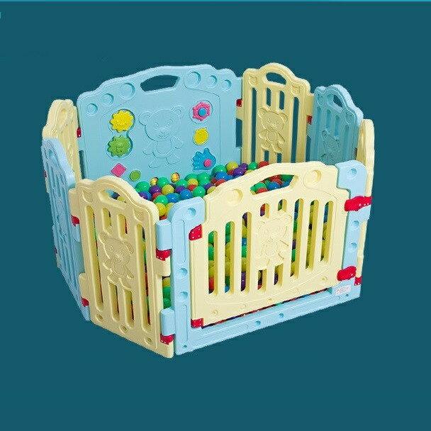麻麻乖寶貝 加高66CM 遊戲圍欄 安全圍欄 嬰兒護欄 幼兒圍欄 門欄 6小+2套裝