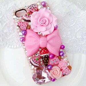 iPhone5C 繽紛草莓派 華麗貼鑽手機殼 Enya恩雅(捷克水晶鑽)(郵寄免運)