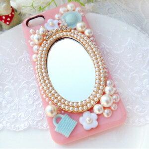 iPhone5C 甜美公主鏡子 清新貼鑽手機殼 Enya恩雅(捷克水晶鑽)(郵寄免運)