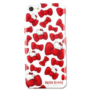iPhone5C 日本三麗鷗 HelloKitty白底甜美蝴蝶結 手機硬殼 Enya恩雅(郵寄免運)