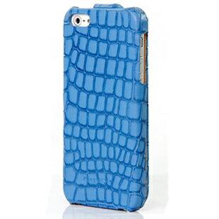 iPhone5S COS酷森正品 格子紋真皮鱷魚紋 皮套 Enya恩雅(郵寄免運)