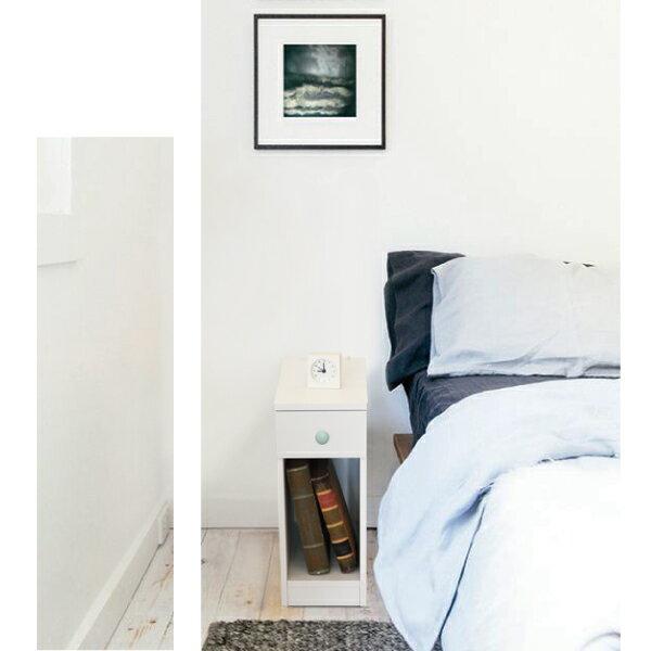 收納櫃 置物櫃 邊櫃 床頭櫃 馬卡龍系列日系床頭櫃(II)(單抽屜) (附插座) 天空樹生活館 7