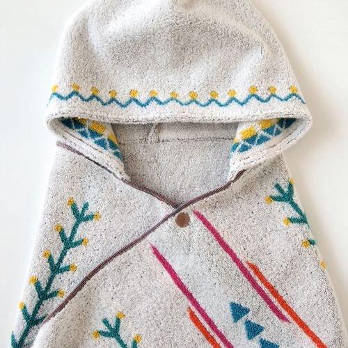 【點數下單送咖啡】Hoppetta - BOBO - 小樹苗連帽浴巾 5