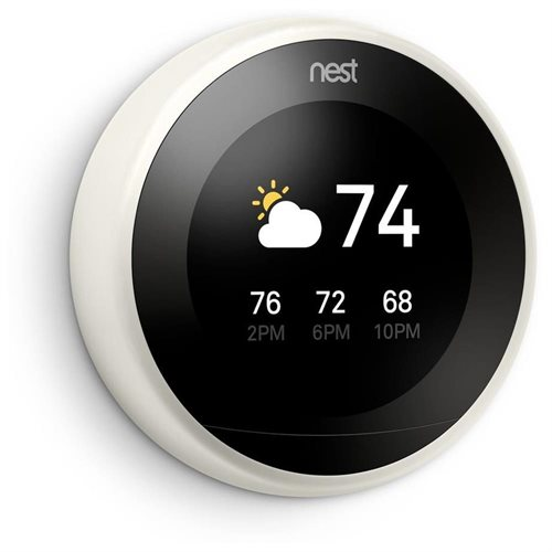 Nest 3rd Generation Programmable Wi-Fi Smart Learning Thermostat T3017US - White 0